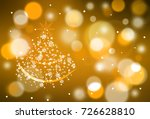 christmas and happy new year... | Shutterstock . vector #726628810