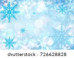 christmas and happy new year... | Shutterstock . vector #726628828