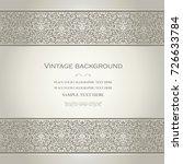 vector vintage card design ... | Shutterstock .eps vector #726633784