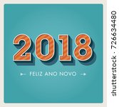happy new year 2018 card ... | Shutterstock .eps vector #726634480