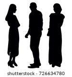 silhouette people  on white... | Shutterstock . vector #726634780