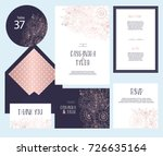 set of templates  for wedding... | Shutterstock .eps vector #726635164