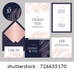 set of templates  for wedding... | Shutterstock .eps vector #726635170