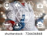 smart machine learning think... | Shutterstock . vector #726636868