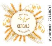 wheat  barley  oat and rye. 3d... | Shutterstock .eps vector #726638764