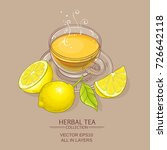 cup of lemon tea on color... | Shutterstock .eps vector #726642118