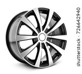 alloy car wheel isolated on... | Shutterstock . vector #726642940