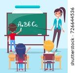 bright vector image of school...   Shutterstock .eps vector #726644536