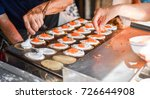 thai crispy pancake making | Shutterstock . vector #726644908