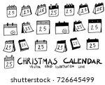 hand drawn calendar isolated....   Shutterstock .eps vector #726645499