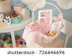 Wicker Basket With Gifts For...