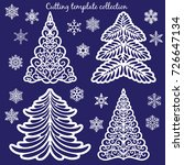 christmas cutting templates... | Shutterstock .eps vector #726647134