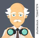 scientist holding binoculars... | Shutterstock .eps vector #726647374