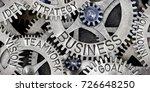 macro photo of tooth wheel...   Shutterstock . vector #726648250