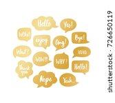 trendy golds speech bubbles set ...   Shutterstock .eps vector #726650119