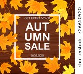 autumn sale banner  beautiful... | Shutterstock .eps vector #726650920