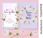 save the date card  wedding... | Shutterstock .eps vector #726650938