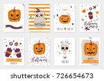 halloween party  hand drawn... | Shutterstock .eps vector #726654673