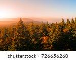 autumn haze illuminated by sun... | Shutterstock . vector #726656260