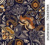 colorful floral seamless... | Shutterstock . vector #726665464