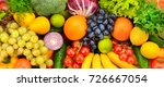 big collection fresh fruits and ... | Shutterstock . vector #726667054