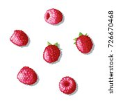the berry lying on a white... | Shutterstock .eps vector #726670468