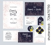 set of templates  for wedding... | Shutterstock .eps vector #726670750