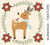 colorful illustration of deer... | Shutterstock .eps vector #726672250