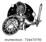 legionary of ancient rome and... | Shutterstock .eps vector #726673750