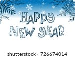 happy ney year postcard... | Shutterstock . vector #726674014