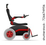 electric wheelchair for...   Shutterstock .eps vector #726674956