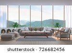 modern living room with...   Shutterstock . vector #726682456
