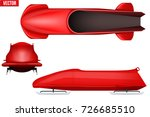 set of classic bobsleigh for... | Shutterstock .eps vector #726685510