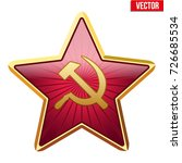 badge of soviet union red star. ... | Shutterstock .eps vector #726685534