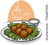 illustration of arabic food... | Shutterstock .eps vector #726687043