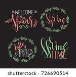 handwritten calligraphic spring ... | Shutterstock .eps vector #726690514