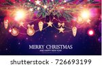 merry christmas shining... | Shutterstock .eps vector #726693199