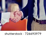 people at work  man and woman...   Shutterstock . vector #726693979