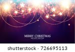 merry christmas shining... | Shutterstock .eps vector #726695113