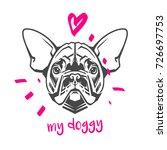 vector hand drawn typography... | Shutterstock .eps vector #726697753