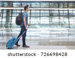 young asian man walking and...   Shutterstock . vector #726698428