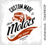 vintage custom hot rod motors... | Shutterstock .eps vector #726698539
