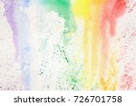 abstract colorful watercolor... | Shutterstock . vector #726701758