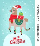 Christmas Card With Llama....