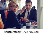 beautiful young business... | Shutterstock . vector #726702328