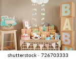 gifts and decorations for baby... | Shutterstock . vector #726703333