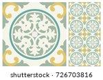 arabic patter style tiles for...   Shutterstock .eps vector #726703816