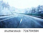 abstract dangerous fast highway ... | Shutterstock . vector #726704584