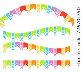 bunting colorful flags vector... | Shutterstock .eps vector #726705790
