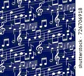 pattern notes. background music.... | Shutterstock .eps vector #726706918